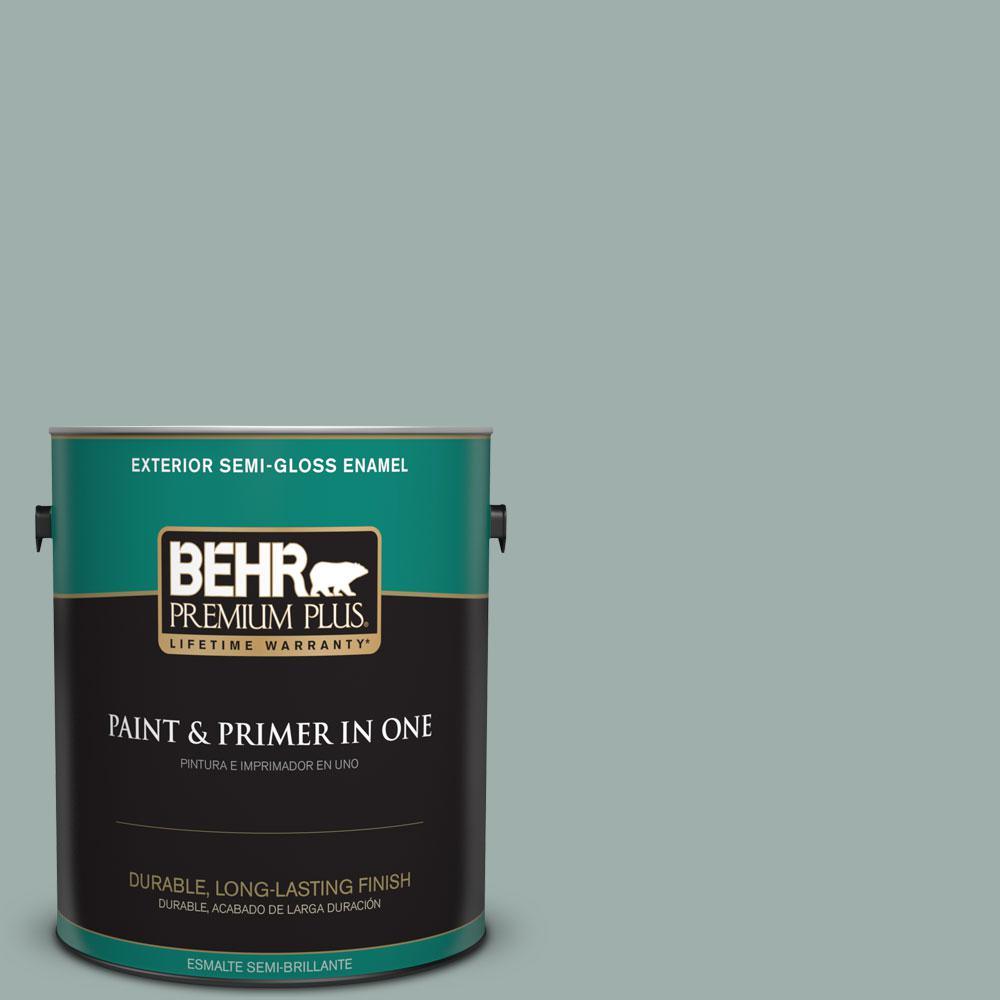 1-gal. #N430-3 Garden Vista Semi-Gloss Enamel Exterior Paint