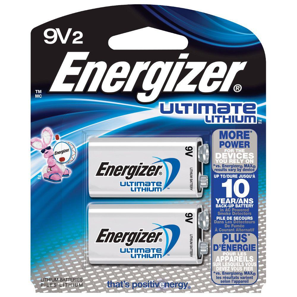 Ultimate Lithium 9-Volt Battery (2-Pack)