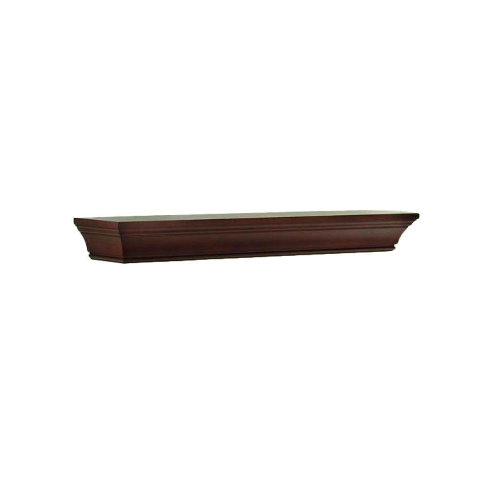Home Decorators Collection 36 in. W x 36 in. L Chestnut Decorative Beveled Shelf