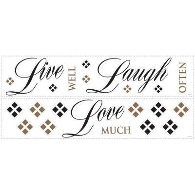 Roommates Live Love Laugh Peel and Stick 22-Piece Wall Decals