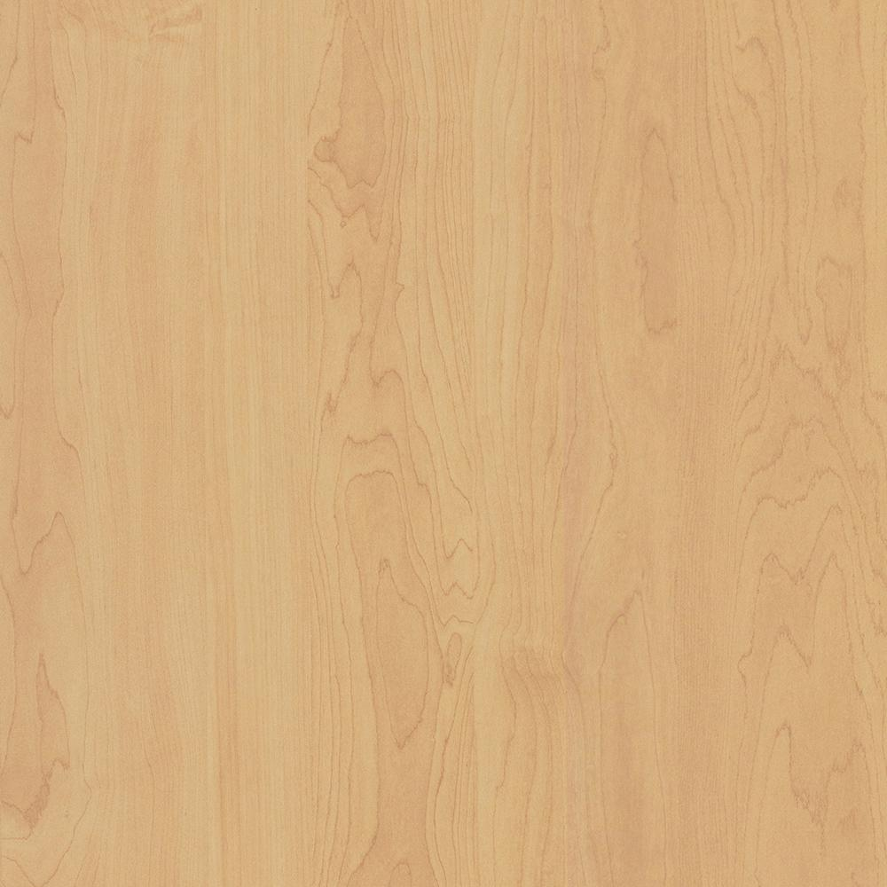 48 in. x 120 in. Laminate Sheet in Kensington Maple with Standard Matte Finish, A Large Planked Maple In A Natural Blond With Peach Undertones