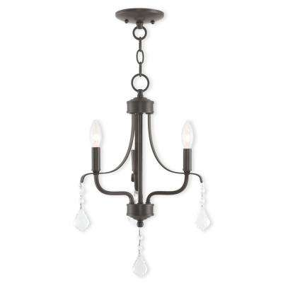 Laurel 3-Light English Bronze Mini Chandelier