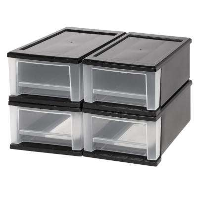 8 7 In X 5 Black Qt Stackable Drawer 4