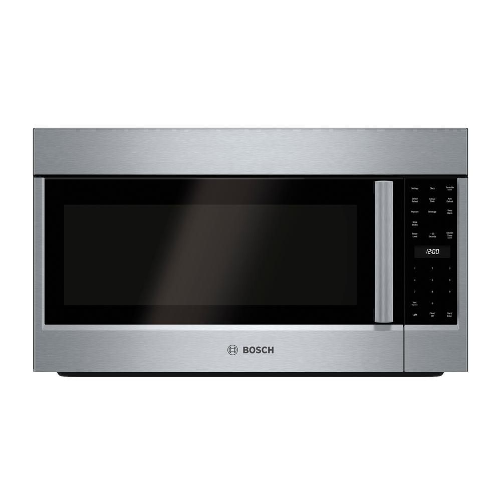 Bosch 500 Series 30 In 2 1 Cu Ft Over The Range Microwave