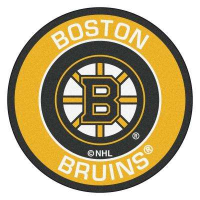 NHL Boston Bruins Yellow 2 ft. x 2 ft. Round Area Rug