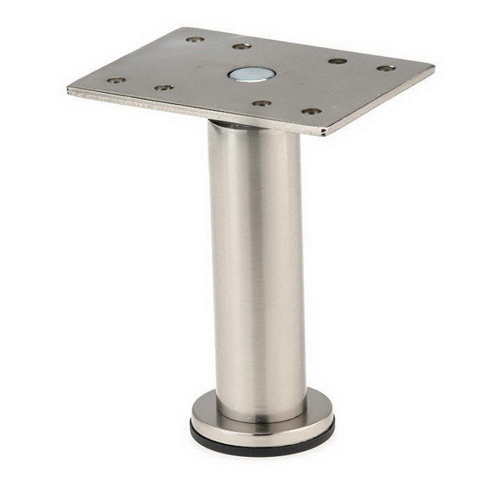 Depot Furniture: Richelieu Hardware 7-7/8 In. Satin Nickel Zinc Round Leg