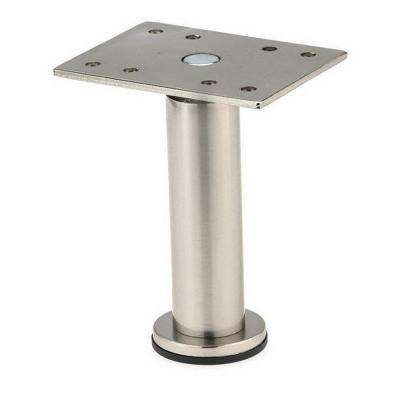7-7/8 in. Satin Nickel Zinc Round Leg