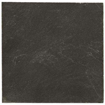 Slate Midnight Black Calibrated/Gauged 15.87 in. x 15.87 in. Slate Floor and Wall Tile