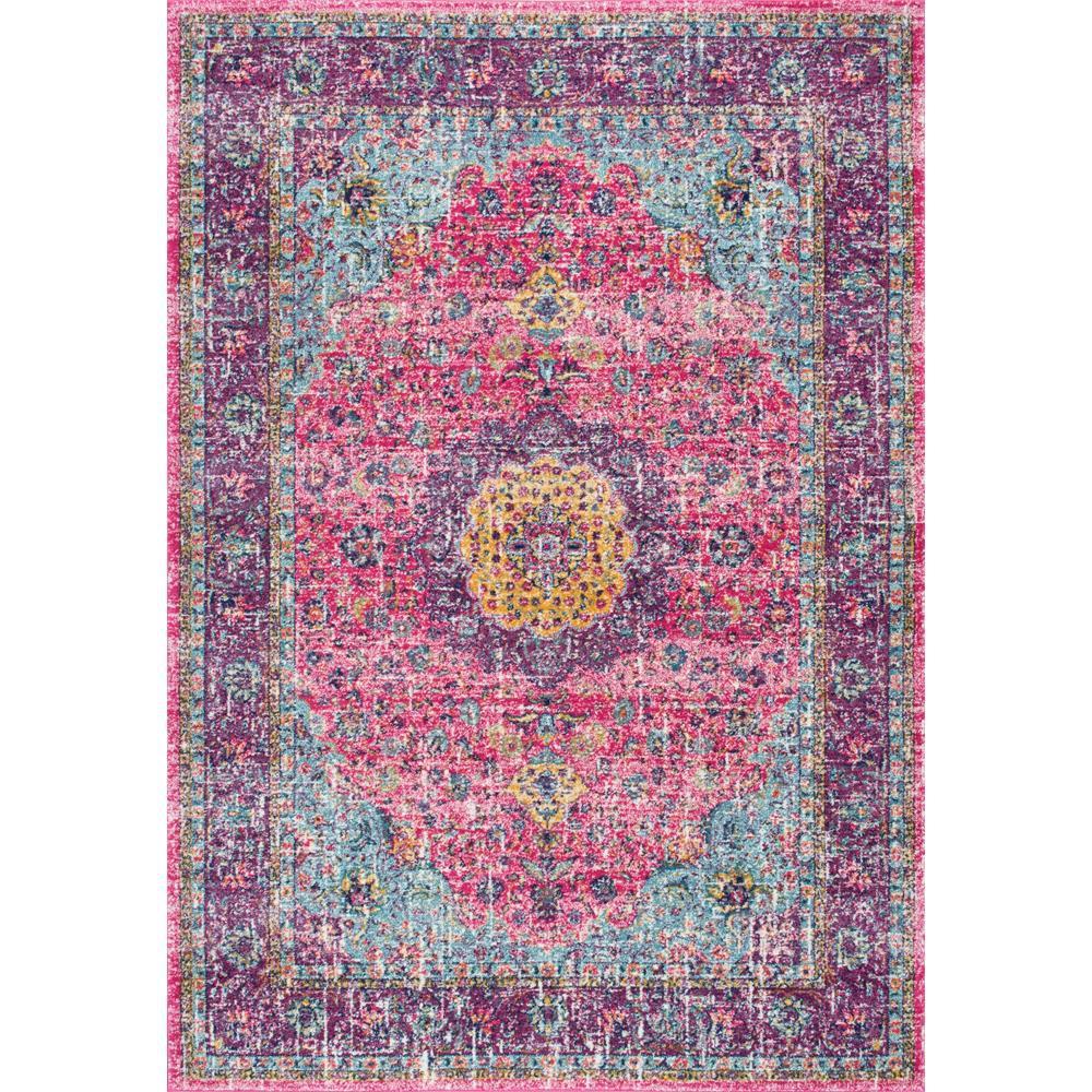 Nuloom Verona Vintage Persian Pink 8 Ft X 10 Ft Area Rug