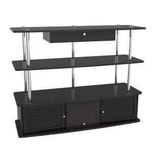 47 in. Black Particle Board TV Stand with 1 Drawer Fits TVs Up to 50 in. with Doors