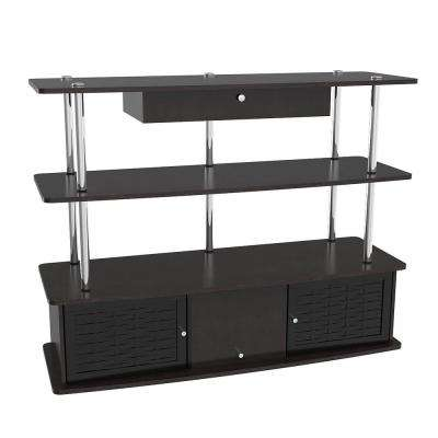 Designs2Go Aspen Black Storage Entertainment Center