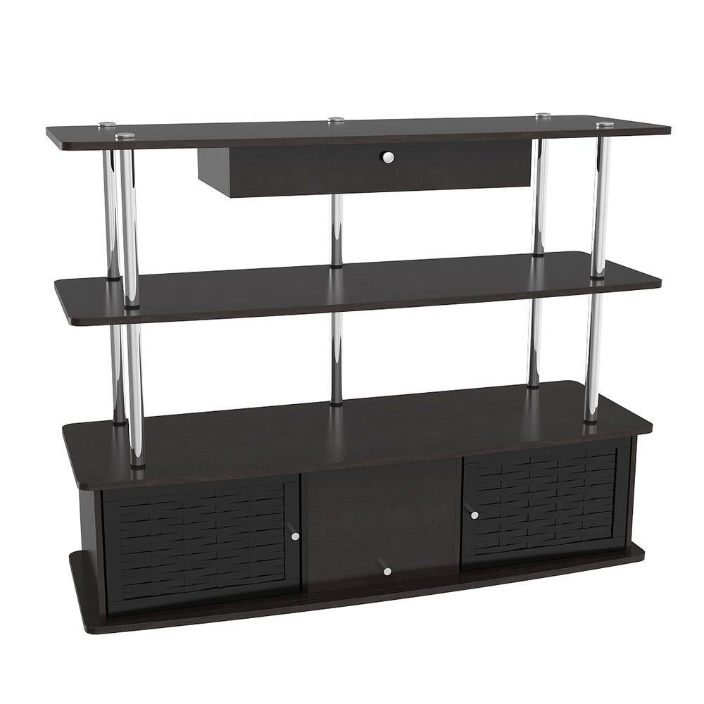 Designs2Go Aspen Black Storage Entertainment Center