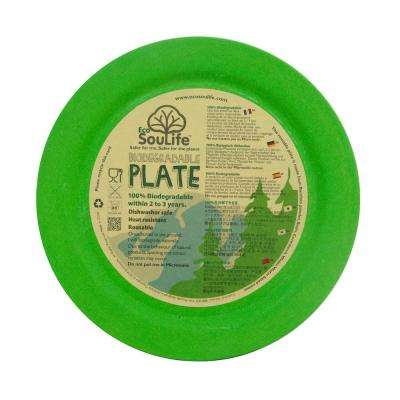 Bamboo 1-Piece Green Dinner Plate