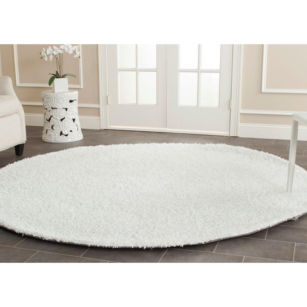 safavieh monterey shag white 7 ft x 7 ft round area rug