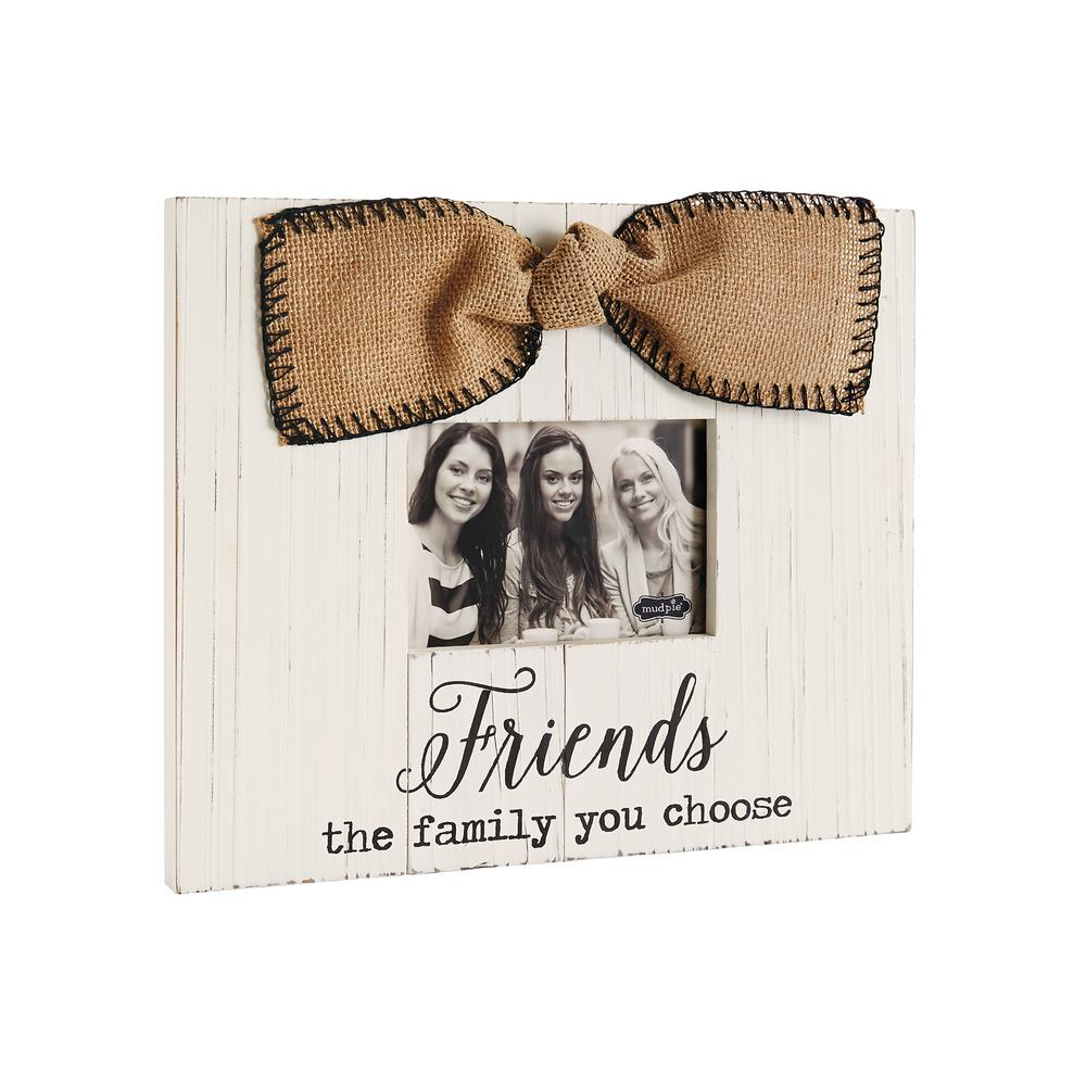 Friends 3.5 in. x 5 in. White Stained Planked Wood Frame-4695279 ...