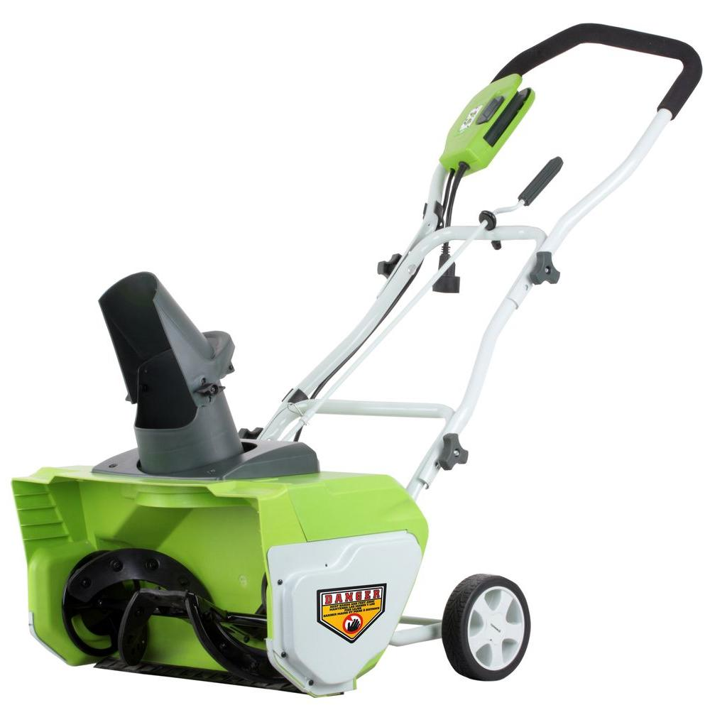 Greenworks 20 in. 12 Amp Corded Electric Snow Blower