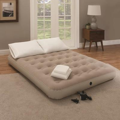Twin 9 in. White Bedding and Air Mattress Set