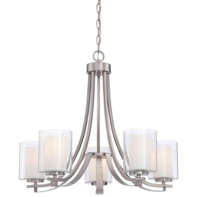 Parsons Studio 5-Light Brushed Nickel Chandelier