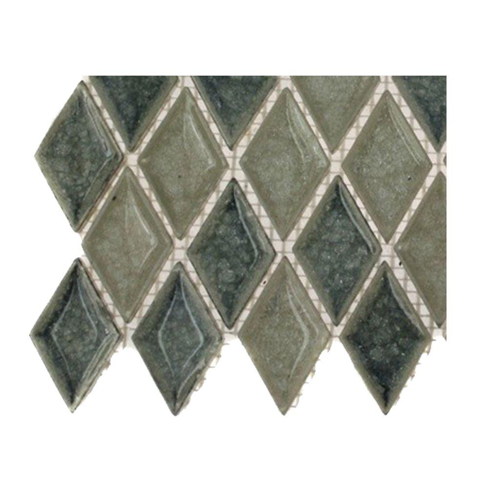 Splashback Tile Roman Selection Saint-Germain Diamond Glass Floor and Wall Tile - 6 in. x 6 in. Tile Sample