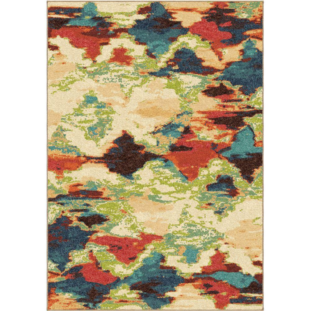 Orian Rugs Patterson Charcoal: Orian Rugs Vibrant Mirage Multi Distressed 8 Ft. X 11 Ft
