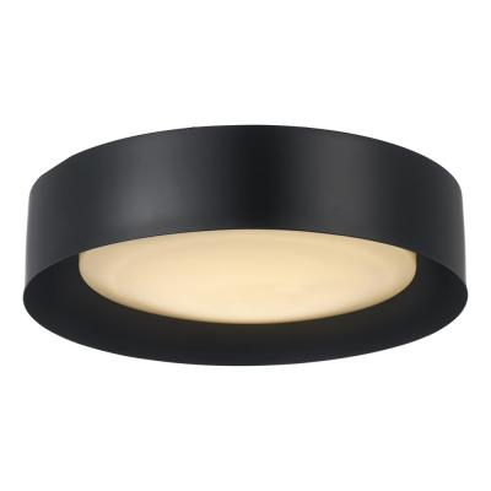 Monteaux 13 in. Black Integrated LED Flush Mount