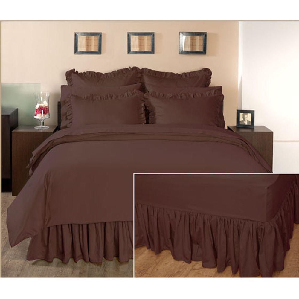 Home Decorators Collection Ruffled Pinecone Path King Bedskirt