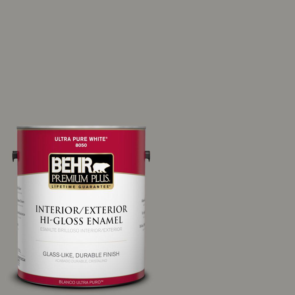 Home Decorators Collection 1-gal. #HDC-AC-19 Grant Gray Hi-Gloss Enamel
