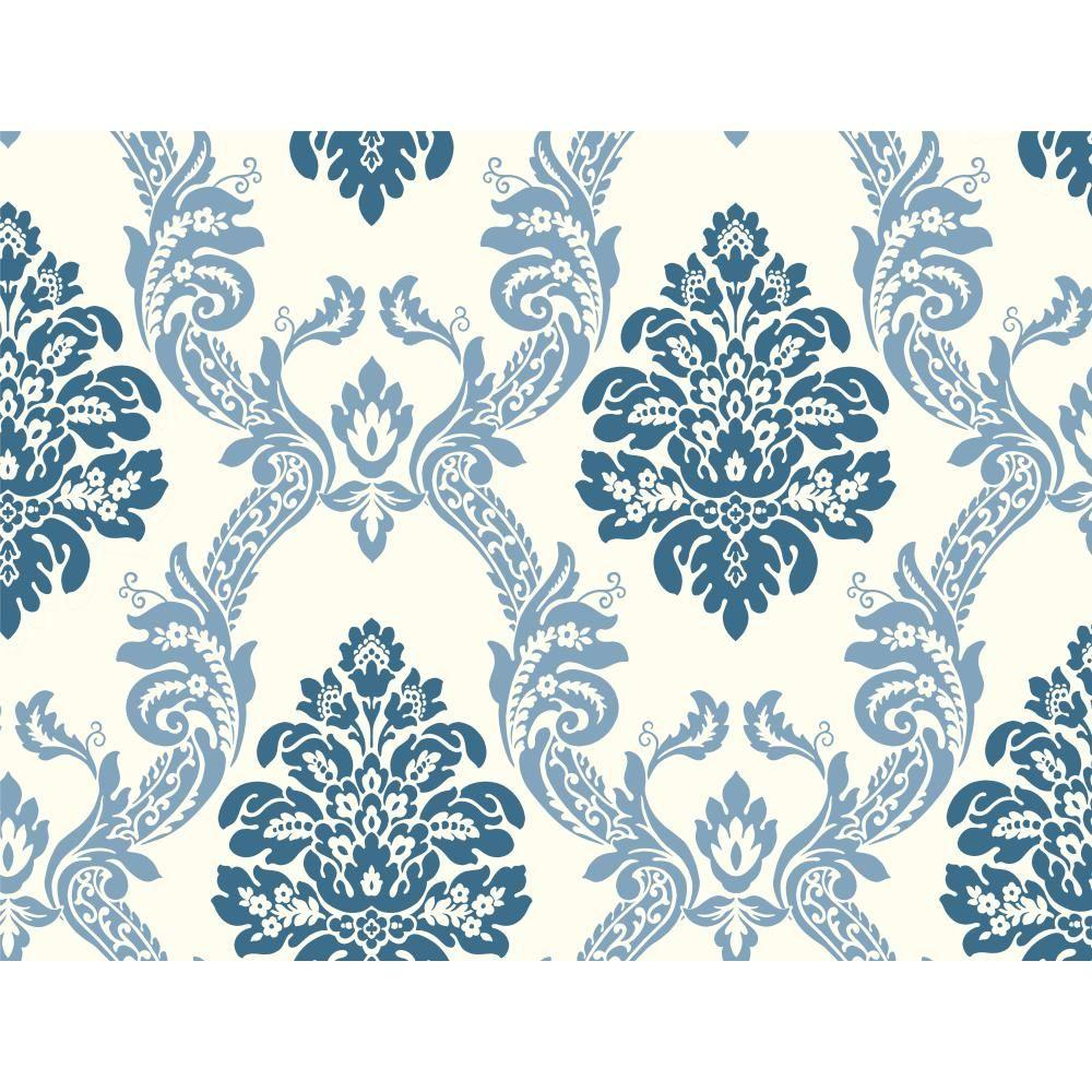 York Wallcoverings Pattern Play Ogee Damask Wallpaper-HS2125 - The ...