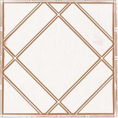 2 ft. x 2 ft. Lay-in Suspended Grid Tin Ceiling Tile in Satin Copper (24 sq. ft. / case)