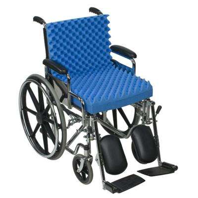 Convoluted Foam Chair Pad and Seat with Back in Blue