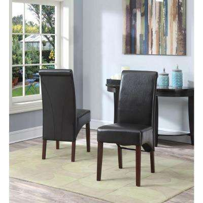 Avalon Tanners Brown Faux Leather Parsons Dining Chair (Set of 2)