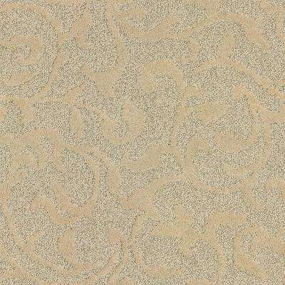 Carpet Sample - Swirling Vines - Color Golden Pecan Pattern 8 in. x 8 in.