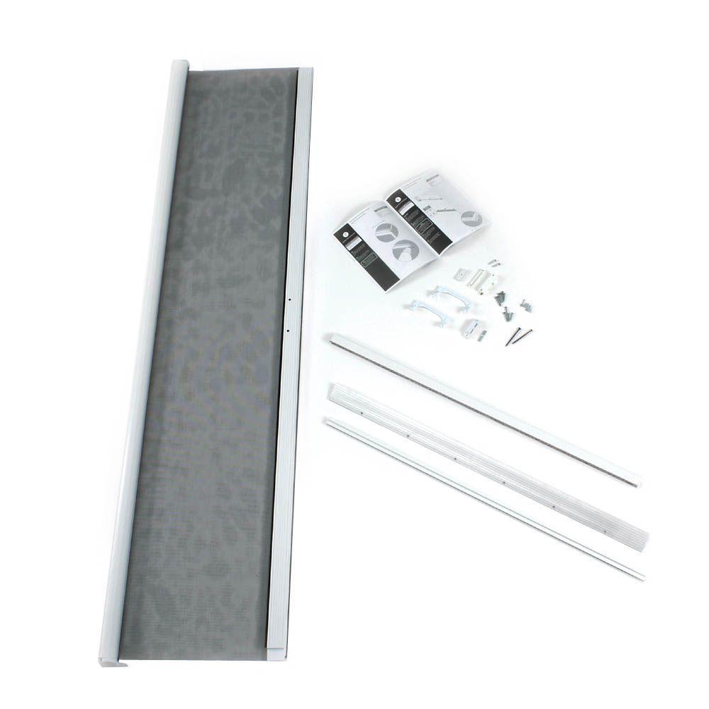 "ODL Retractable Screen Door in white for sliding or out-swing doors (36""w x 80""h), short height in-swing door (36""w x 78""h)"