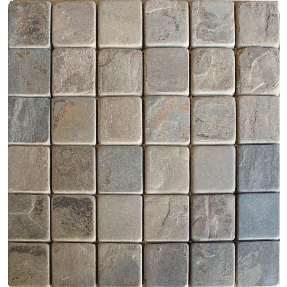 MS International Rustique Earth 12 in. x 12 in. x 10 mm Tumbled Slate Mesh-Mounted Mosaic Tile (10 sq. ft. / case)
