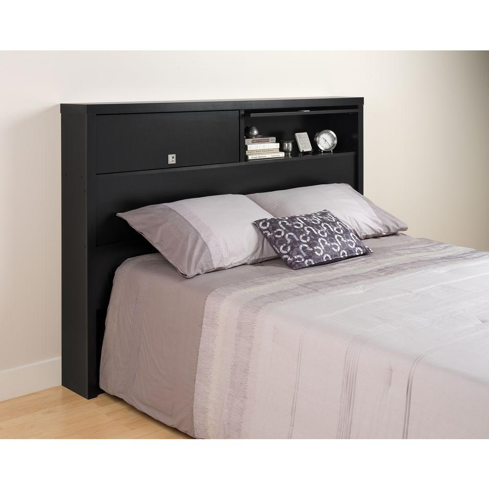 Prepac Series 9 Black Full/Queen Headboard