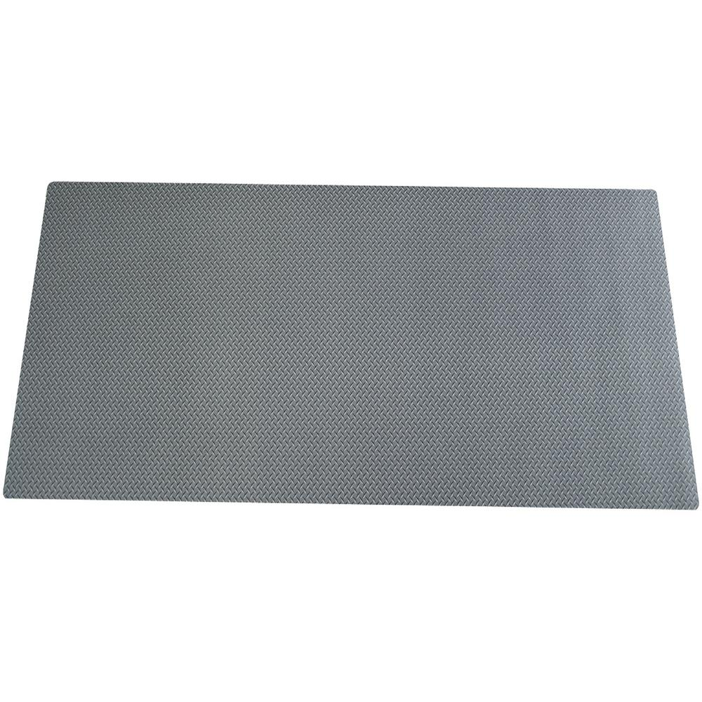 20 in. x 58 in. Diamond Plate Work Bench Mat, Gray