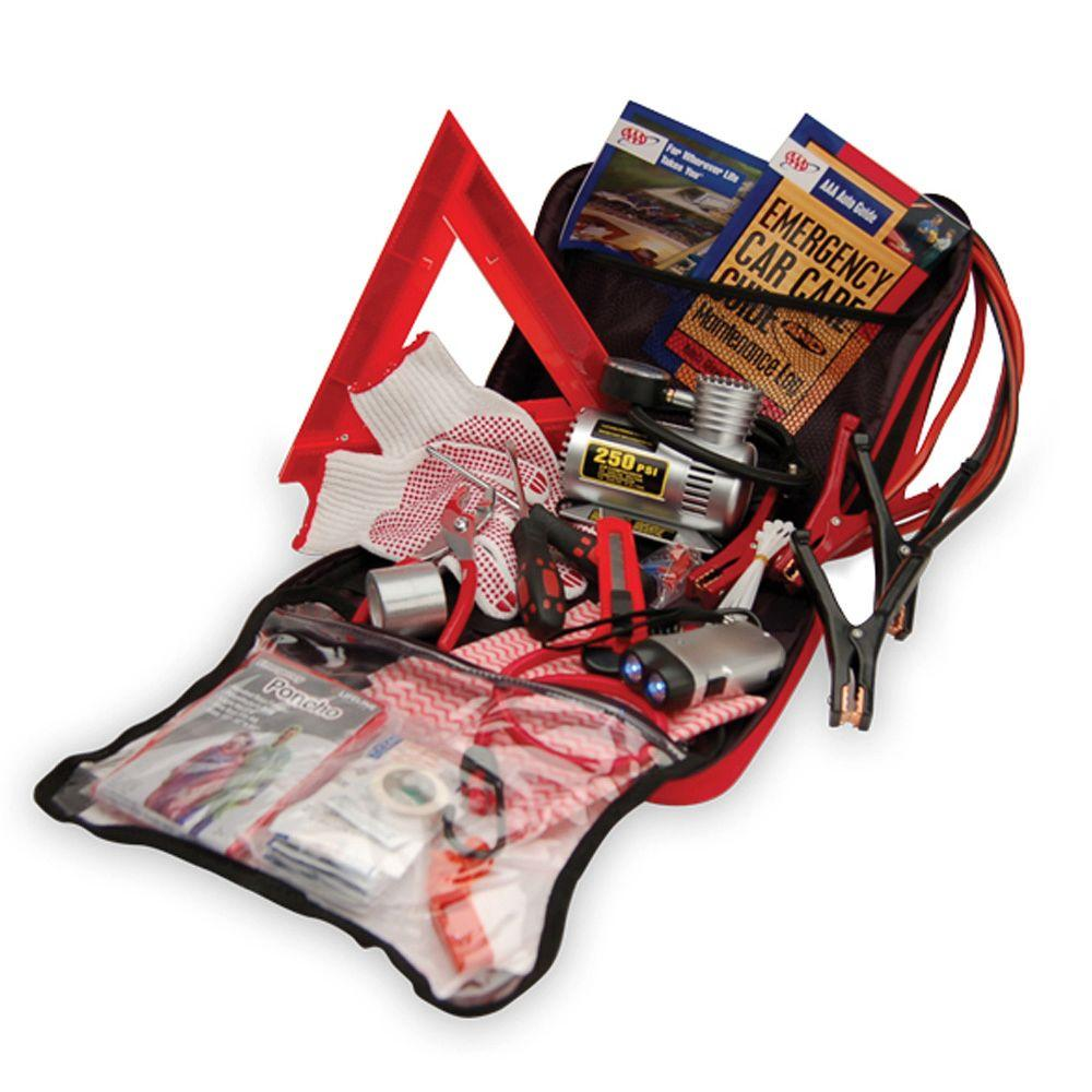 AAA Emergency Road Excursion Safety and First Aid Kit 73-Piece