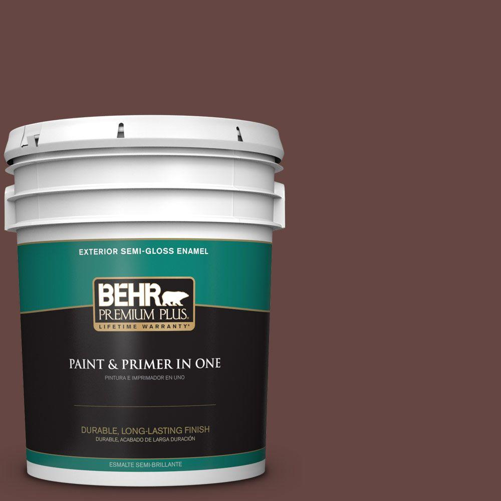 5-gal. #700B-7 Wild Manzanita Semi-Gloss Enamel Exterior Paint