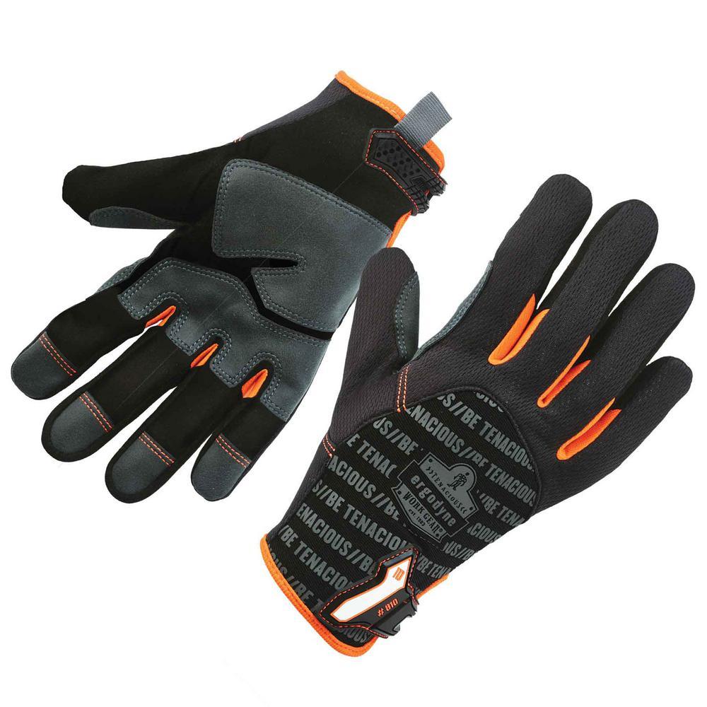 Ergodyne Ergodyne ProFlex Large Black Reinforced Utility Work Gloves, Adult Unisex