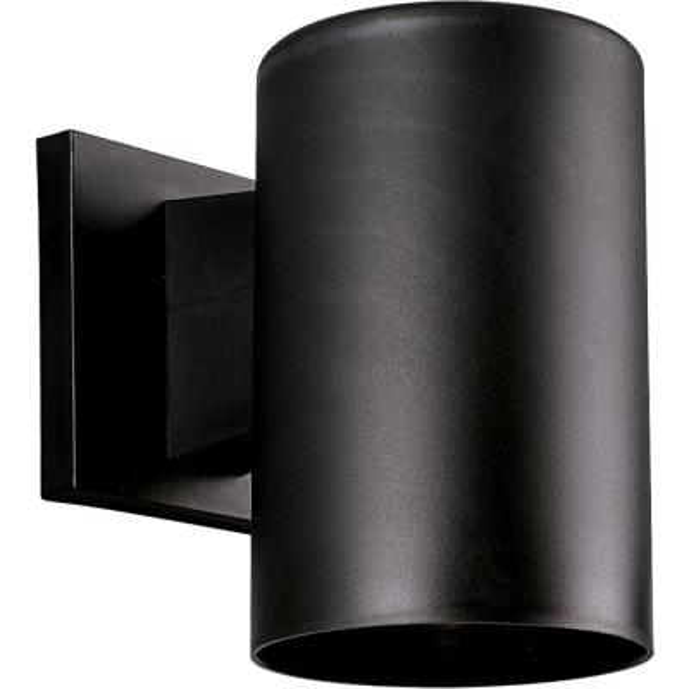 1-Light Black 7.25 in. Outdoor Wall Lantern