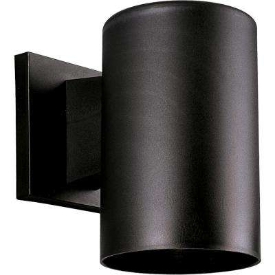 1-Light Black 7.25 in. Outdoor Wall Lantern