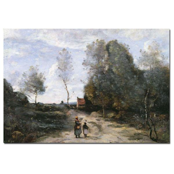 Trademark Fine Art 22 in. x 32 in. ''The Road'' Canvas