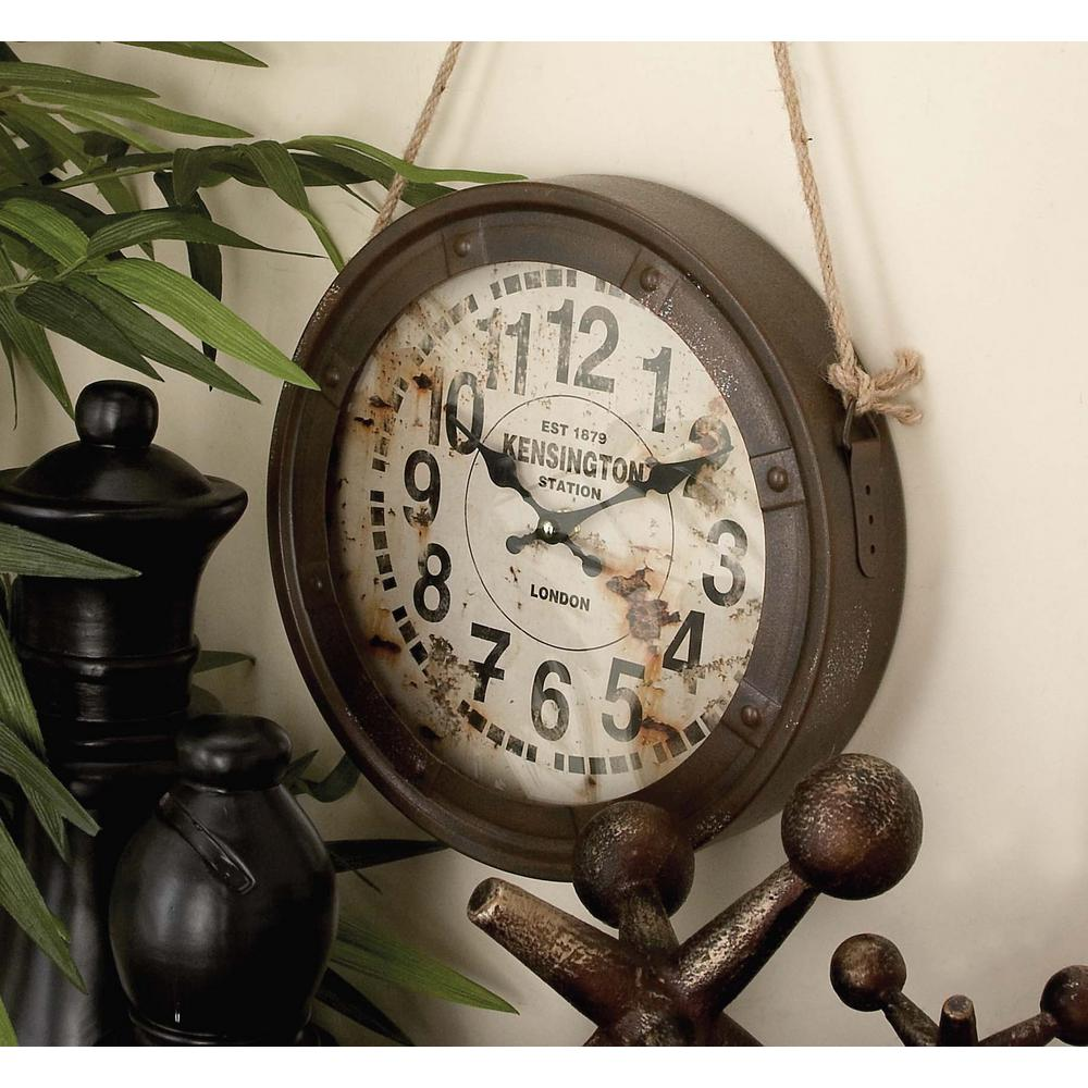 3 Assorted 11 In Vintage Round Hanging Wall Clocks 52541