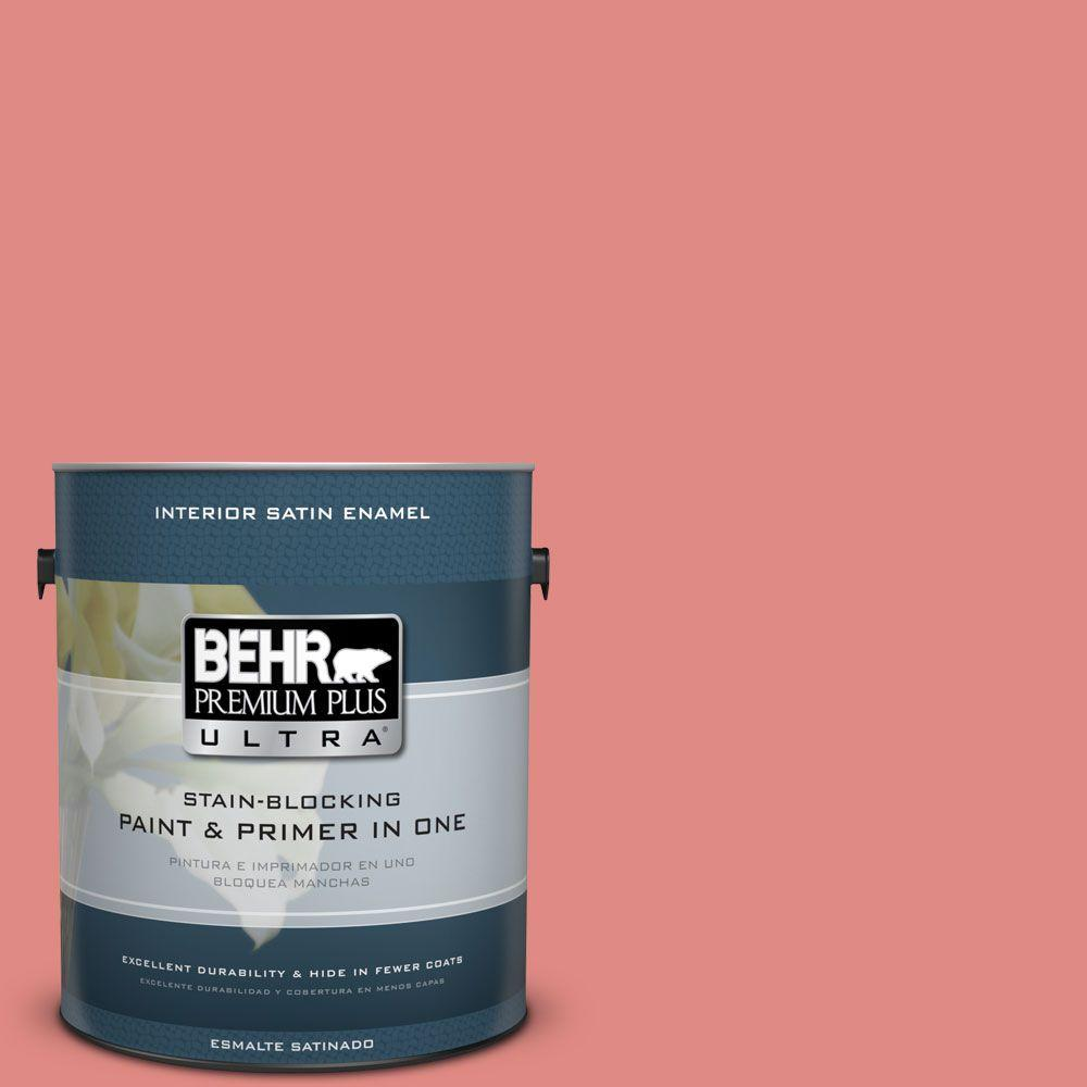 1 gal. #HDC-SP16-12 Begonia Satin Enamel Interior Paint