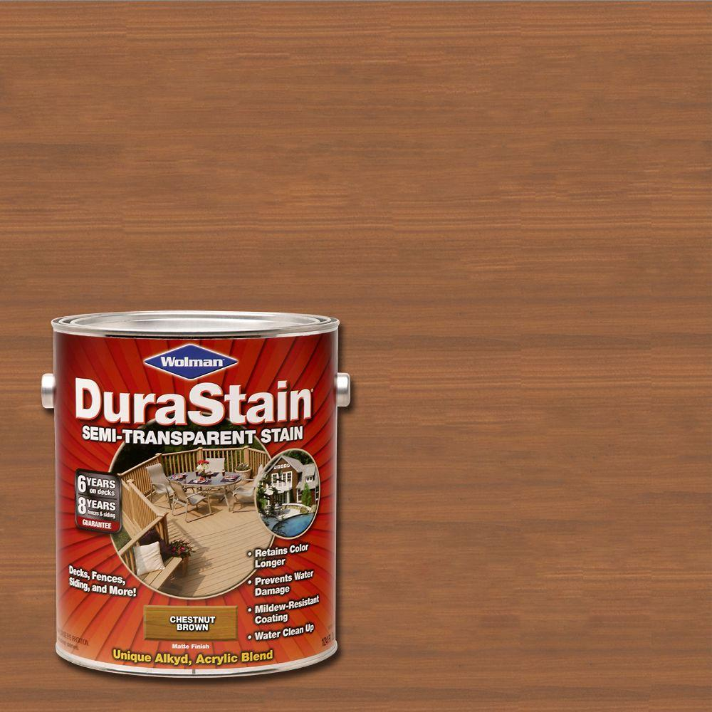 Wolman 5 Gal F P Natural Exterior Wood Stain Finish And: Wolman 1-gal. DuraStain Natural Chestnut Brown Semi