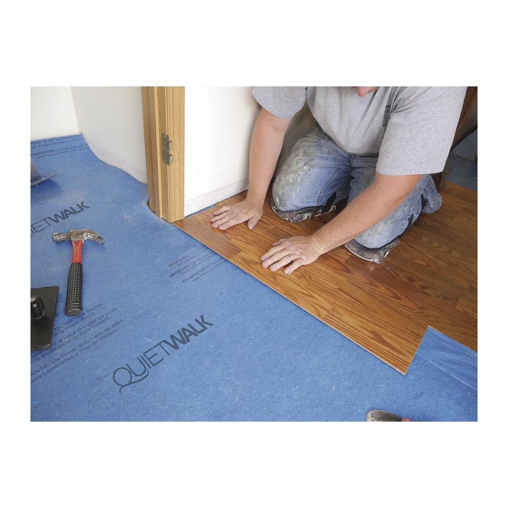 Quietwalk 100 Sq Ft 3 X 33, Water Barrier For Laminate Flooring