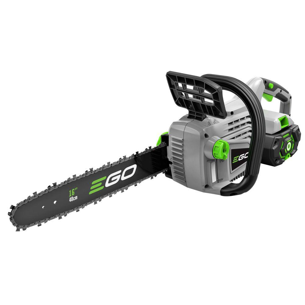 EGO 16 in. 56-Volt Lithium-ion Cordless Chainsaw with 5.0Ah Battery and Charger Included