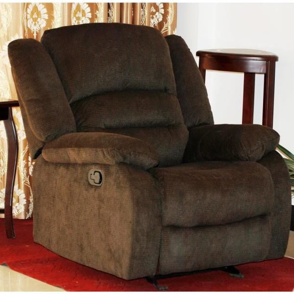 Chocolate Nadia Contemporary Microfiber Recliner Chair S6024