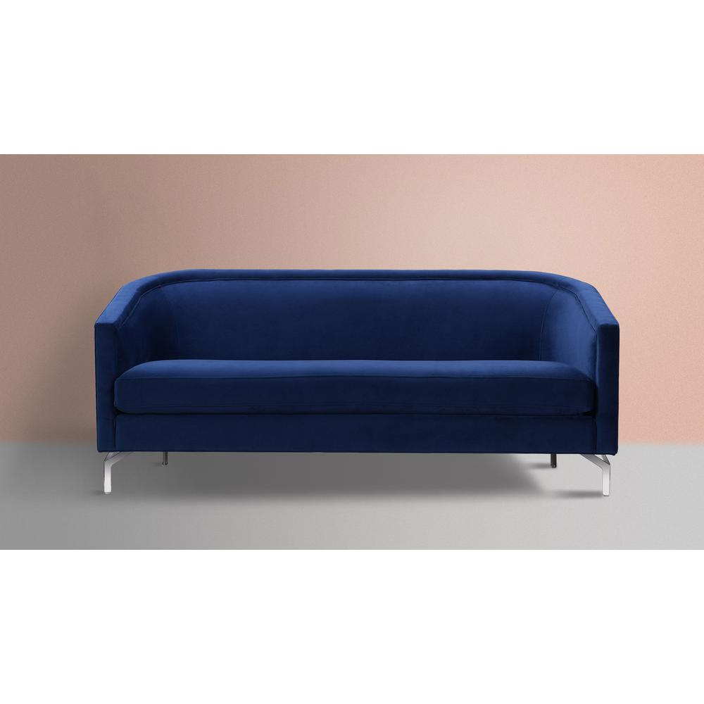 Annette Navy Blue Cabriole Sofa S63420-3-859 - The Home Depot