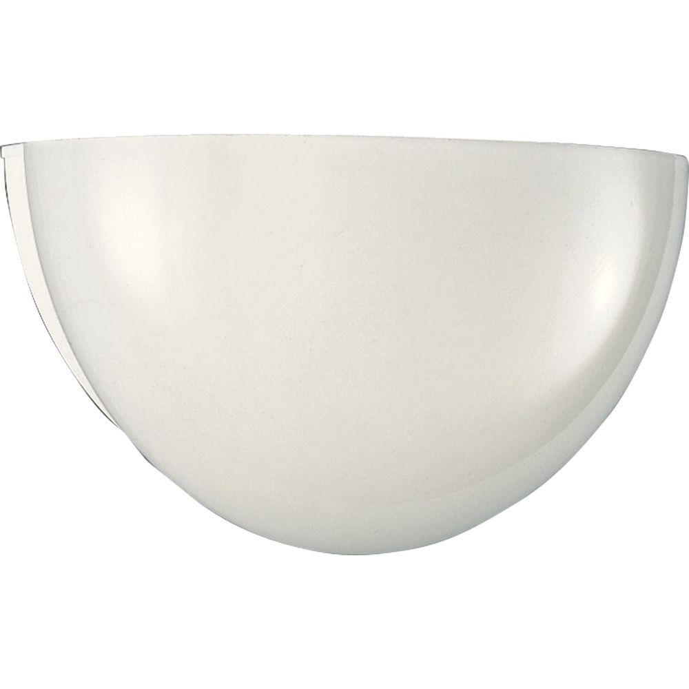 Progress Lighting 1 Light White Wall Sconce With Glass
